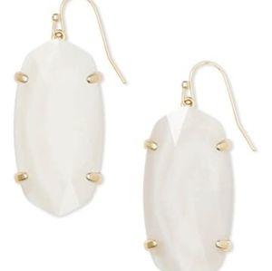 NEW Kendra Scott Esme Drop Earrings in White Mop